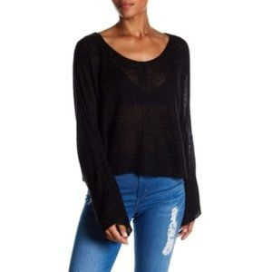 WILDFOX Janice Crystal Bell Sleeve Boxy Sweater